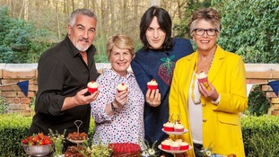 Paul Hollywood is joined by Prue Leith, Noel Fielding and Sandi Toksvig.