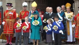 The Queen's visit to Leicester Cathedral on Thursday