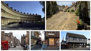 Britain's prettiest streets revealed