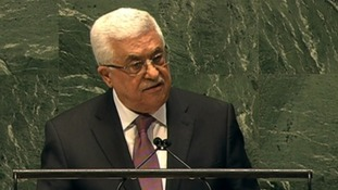 Palestinian President Mahmoud Abbas at the UN in New York