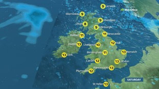 Highs of 14C (57F) on Saturday.
