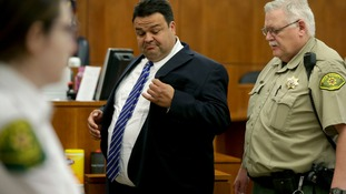 Keith Vallejo leaves the courtroom after being found guilty in March.