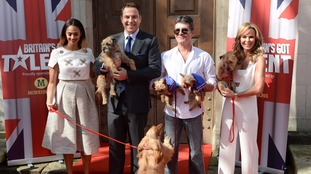 Britain's Got Talent Judges with their dogs (pictured in 2014)