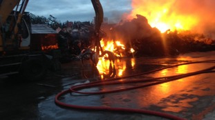 Huge fire engulfs scrapyard overnight