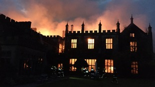 Stately home gutted by fire