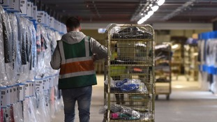 Sports Direct warehouse where firm said it would ditch zero-hours contracts