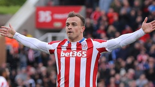 Shaqiri screamer fires Stoke to Hull win