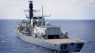 Navy escorts two Russian warships approaching UK waters