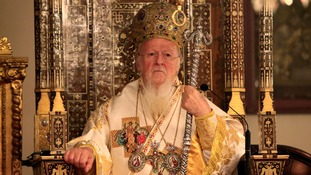 Ecumenical Patriarch Bartholomew I, the spiritual leader of the world's Orthodox Christians, leads the Easter Resurrection Service at the Patriarchal Cathedral of St. George in Istanbul.
