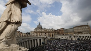Thousands packed into St Peter's Square to hear the Pope deliver the Easter Mass.