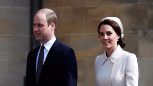 William and Kate join the Queen at Windsor for Easter service