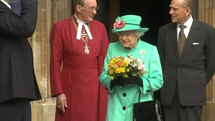 Queen joined by royal family at Easter church service