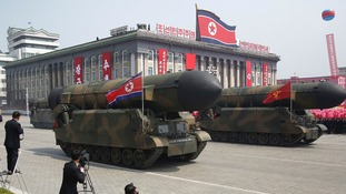 North Korea staged a new missile launch on Saturday night.