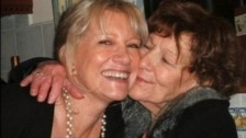 Marilyn Baldwin (left) with her mother (right)