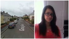 Katrina Evemy, left, was taken to hospital following an incident on Graig Avenue in Llanelli on Thursday