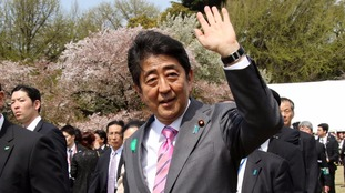 Japanese Prime Minister Shinzo Abe said Japan supports the US