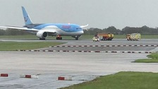 Flight TOM 108 was aborted ahead of take-off at Manchester Airport