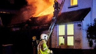 Huge care home fire in middle of night 'started by discarded cigarette'