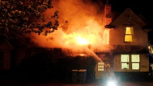 The fire broke out at around 11pm on Saturday night