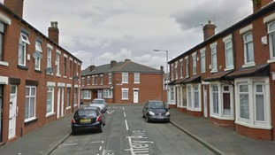 Image shows Chinley Avenue, Moston, where the assault took place