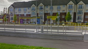 The Crossacres tram stop in Wythenshawe
