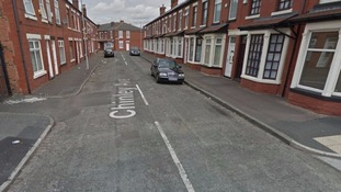 The man was found unconscious in Chinley Avenue in the Moston area of Manchester.