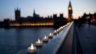 Candles were lit on Westminster Bridge in the wake of the attack for the victims.