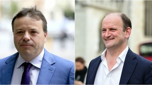 Arron Banks (left) will go up against Douglas Carswell (right).