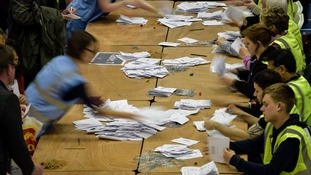 Vote counting gets underway at a previous election.