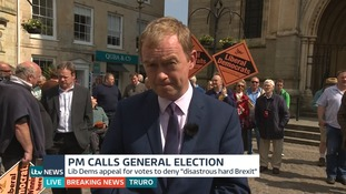 Tim Farron said an election would be a 'great opportunity'.