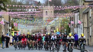 The Tour de Yorkshire peloton in action in 2016.