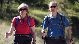 Theresa May decided on her walking holiday