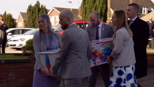 The funeral of Violet-Grace Youens has taken place in St Helens
