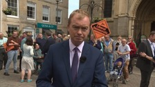Lib Dem leader Tim Farron in Truro.