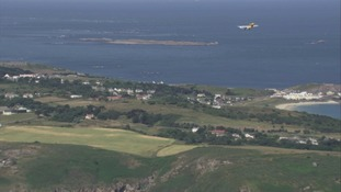 A plane over Alderney
