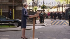 Theresa May outside Downing Street