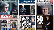 Wednesday's newspapers