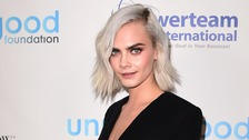Model Cara Delevingne features in the Rimmel advert