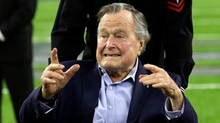 Former US President George Bush Sr back in hospital with pneumonia