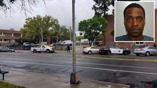 The scene of one of the shootings and (inset) Kori Ali Muhammad.