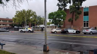 The scene of one of the shootings