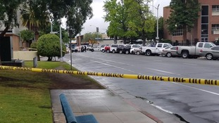 The scene of one of the shootings.