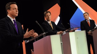 David Cameron, Nick Clegg and Gordon Brown took part in the historic first televised debates.