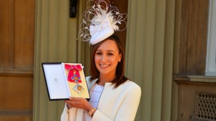 Dame Jessica Ennis-Hill pictured at Buckingham Palace.
