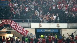 Police break up fans from Real Madrid and Bayern Munich