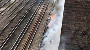Nationwide disruption as fire closes Euston railway station