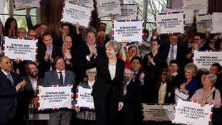 Theresa May launched the Conservative campaign on Wednesday.