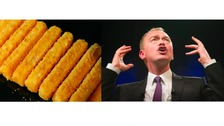 Fish finger and Tim Farron.