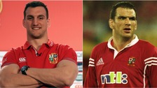 Sam Warburton and Martin Johnson