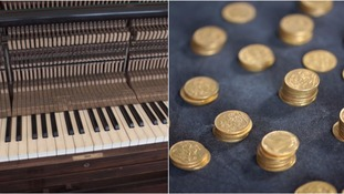 Coroner rules hoard of gold sovereigns found in a piano is treasure